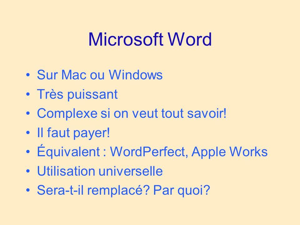 Quark express Préparation de bulletins, de journaux Très puissant Mac et Windows Très cher Assez complexe