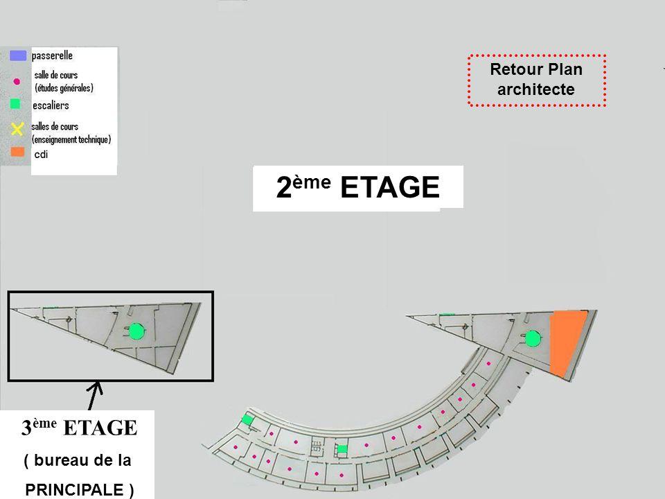 Retour Plan architecte 3 ème ETAGE ( bureau de la PRINCIPALE ) 2 ème ETAGE