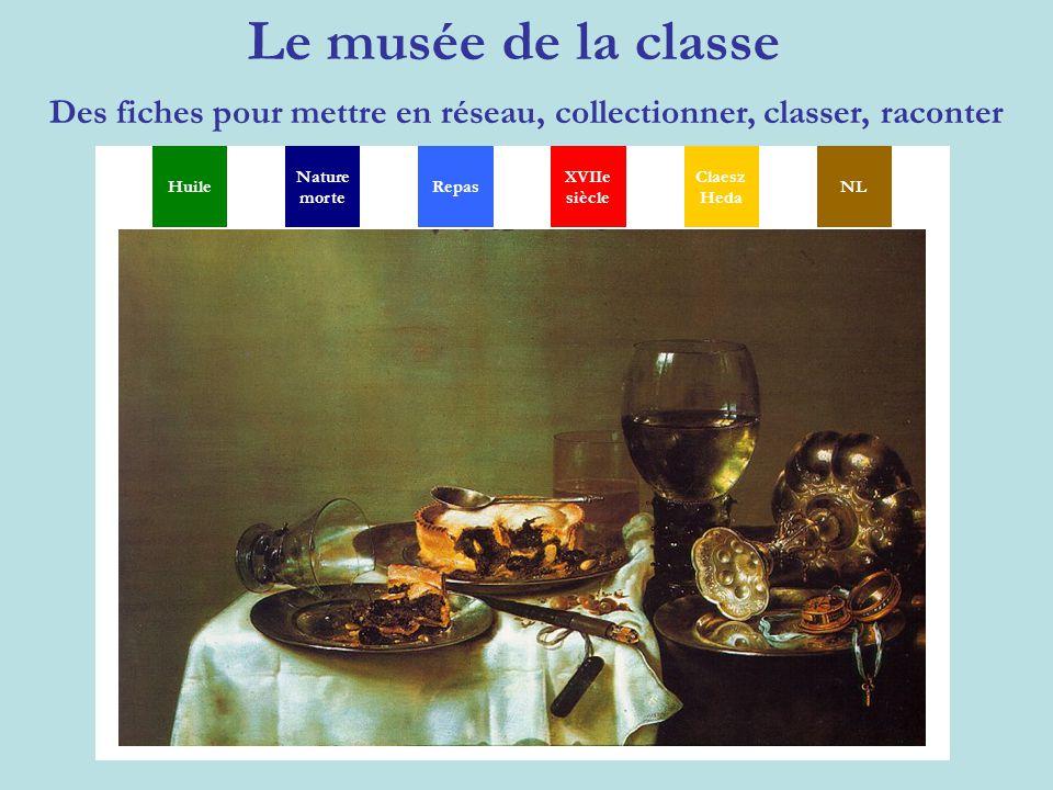 Le musée de la classe Des fiches pour mettre en réseau, collectionner, classer, raconter MGSXYP TH Huile Nature morte XVIIe siècle Claesz Heda NLRepas