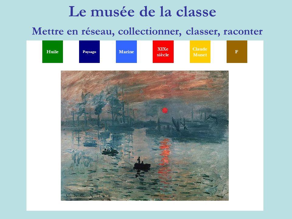 Le musée de la classe Mettre en réseau, collectionner, classer, raconter MGSXYP TH Huile Paysage XIXe siècle Claude Monet FMarine