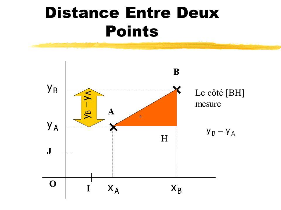 Distance Entre Deux Points O I J A B H Le côté [AH] mesure