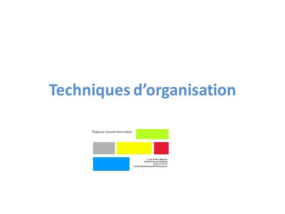 Techniques dorganisation