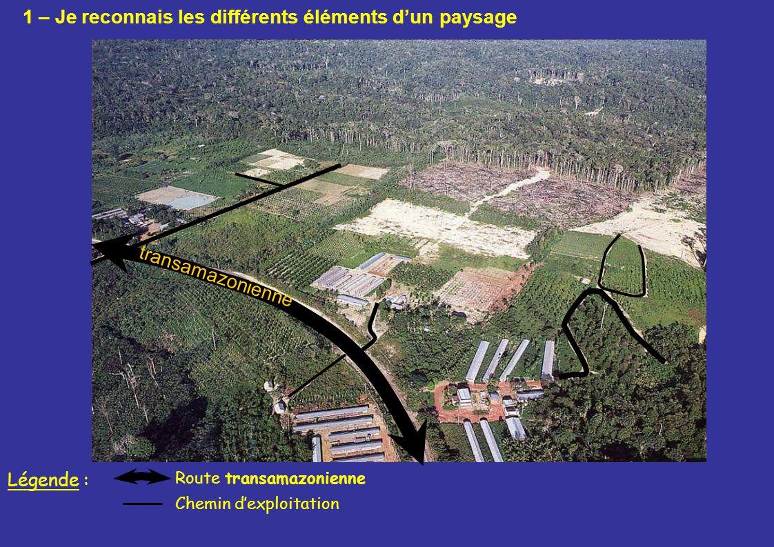 transamazonienne Route transamazonienne Légende : Chemin dexploitation 1 – Je reconnais les différents éléments dun paysage