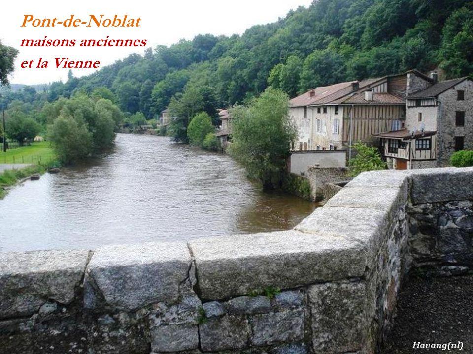 Pont-de-Noblat léglise et la Vienne