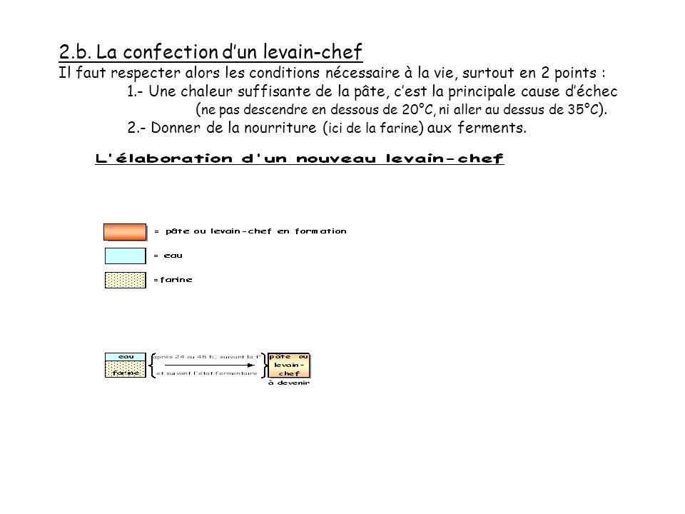 2.a. La confection dun levain-chef En phase moins microbiologique et plus techniquo-pratique. Pour créer un nouveau levain-chef, dans une température