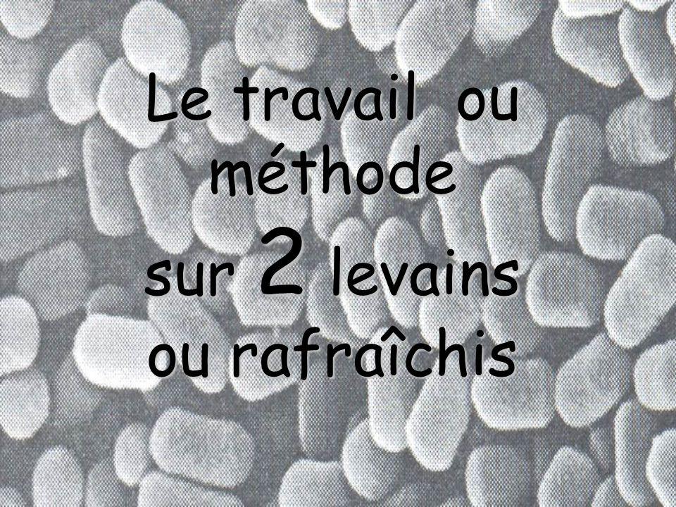 4.e. Le travail ou méthode sur 1 levain Cette méthode donne également beaucoup de lattitude de travail. Elle permet un usage plus souple en durée dune