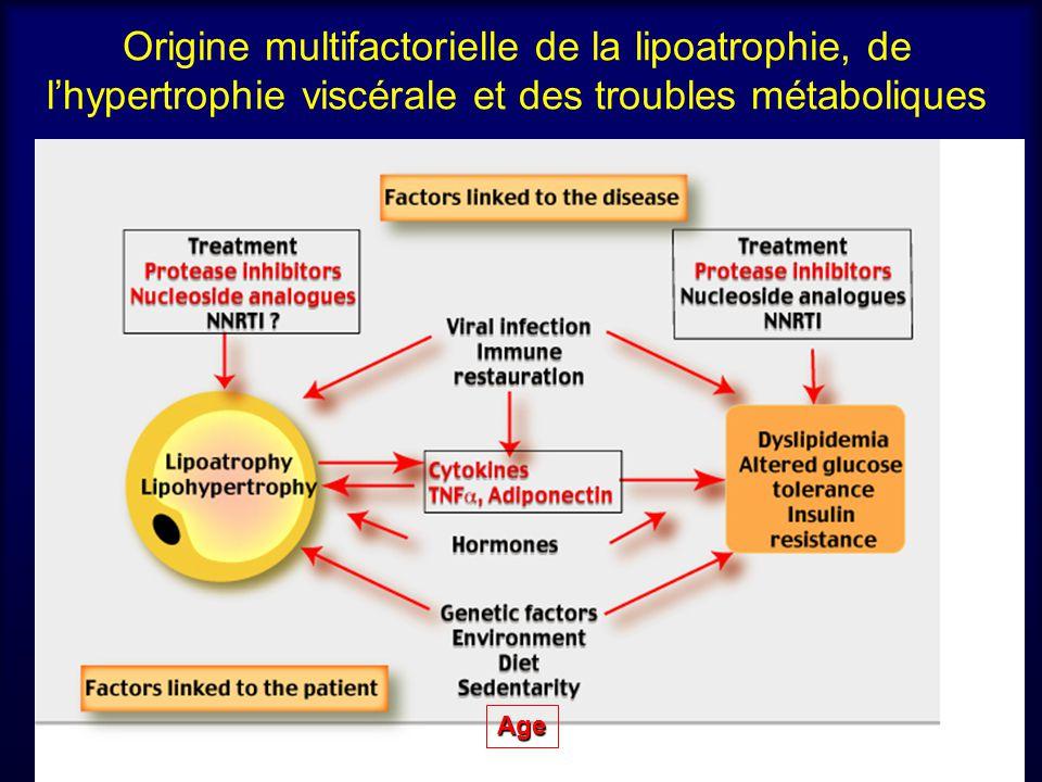 Origine multifactorielle de la lipoatrophie, de lhypertrophie viscérale et des troubles métaboliques Age