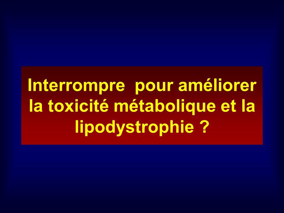 Interrompre pour améliorer la toxicité métabolique et la lipodystrophie ?