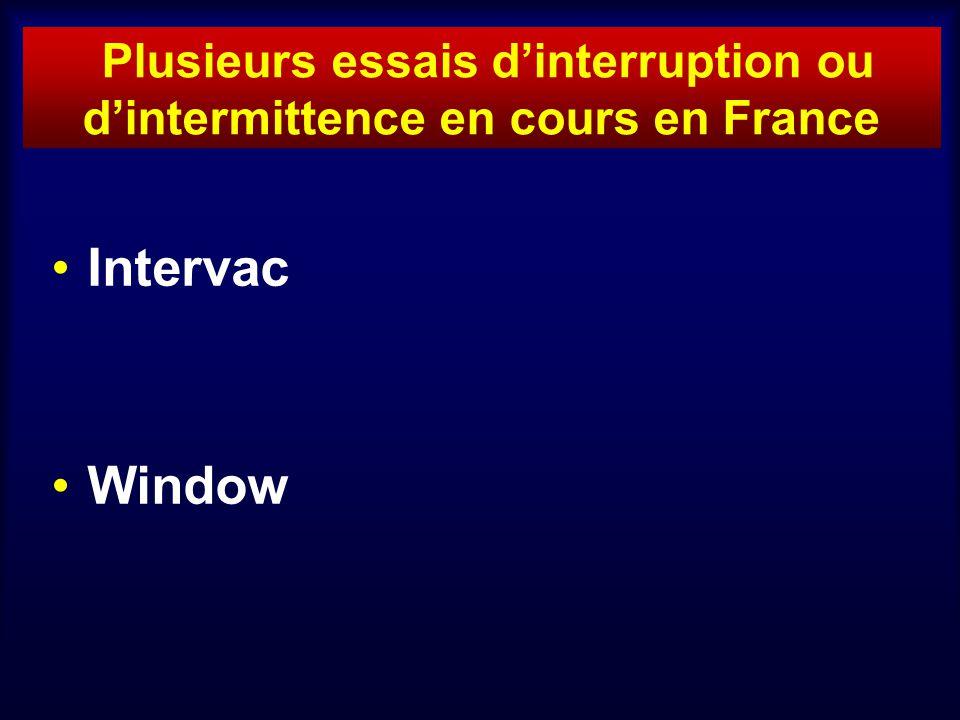 Plusieurs essais dinterruption ou dintermittence en cours en France Intervac Window