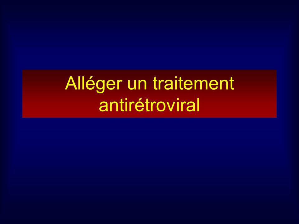Alléger un traitement antirétroviral