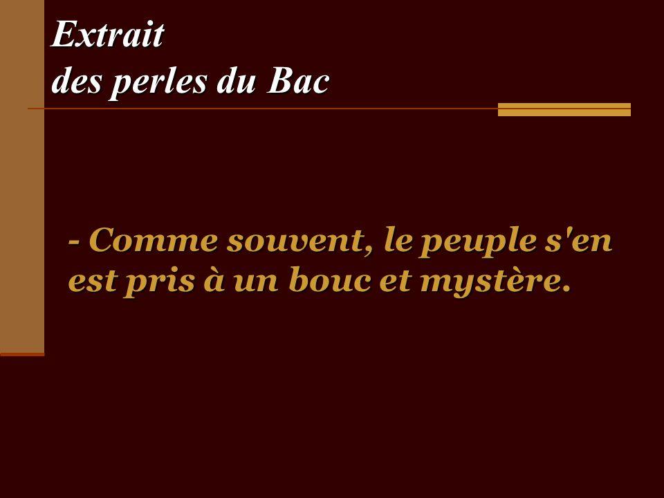 Extrait des perles du Bac - Napoléon III était le neveu de son grand-père.
