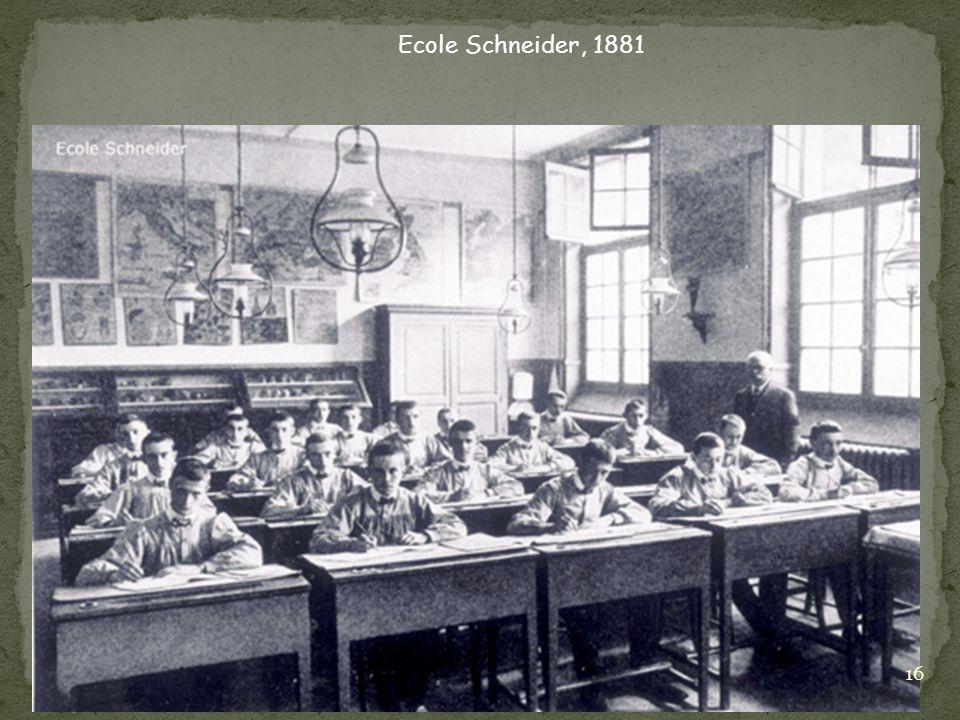 Ecole Schneider, 1881 16