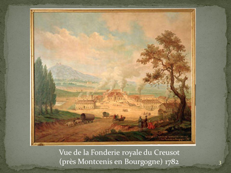 Vue de la Fonderie royale du Creusot (près Montcenis en Bourgogne) 1782 3