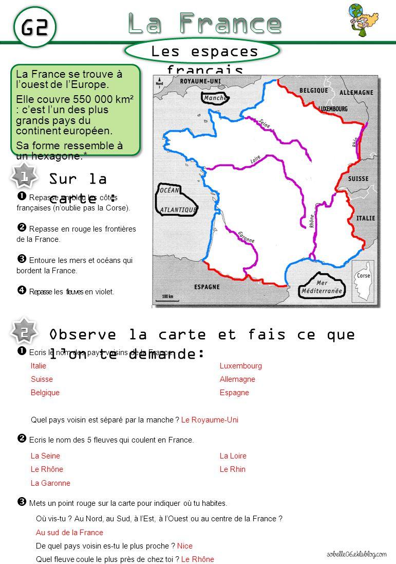 G3 Les espaces français Trois Français sur quatre sont des citadins : ils vivent en ville*.