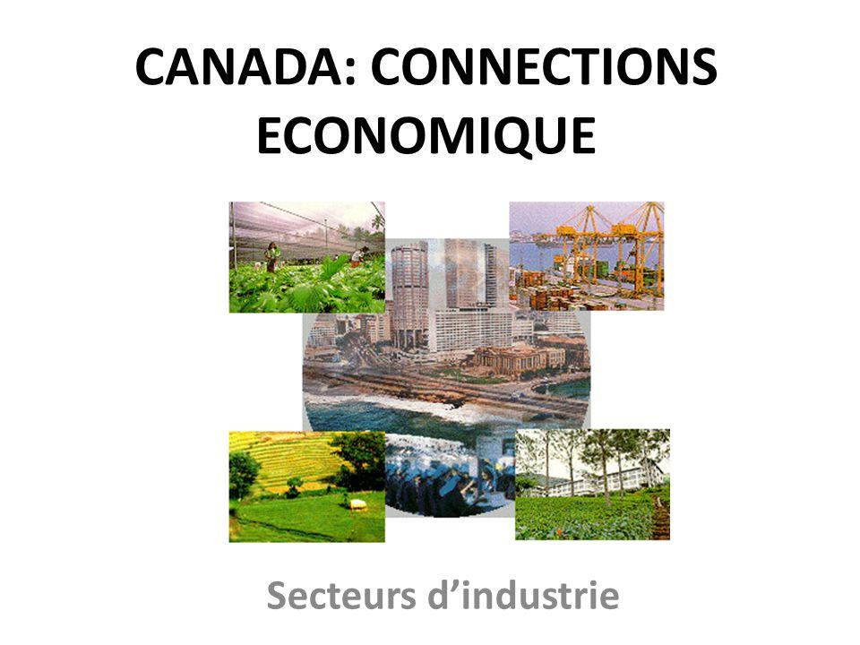 CANADA: CONNECTIONS ECONOMIQUE Secteurs dindustrie