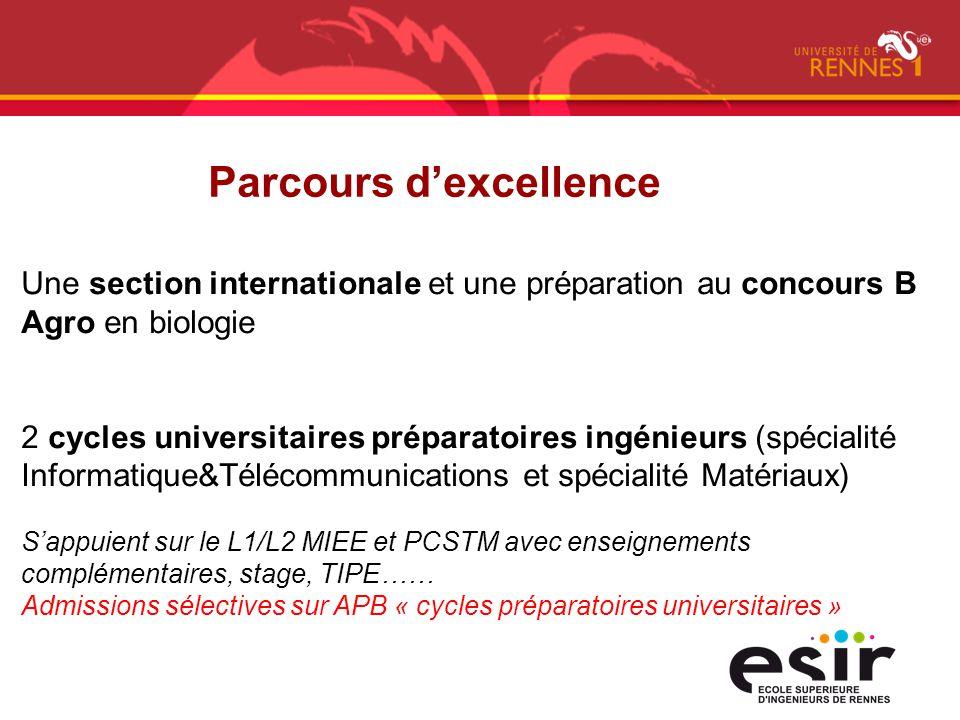 Une section internationale et une préparation au concours B Agro en biologie 2 cycles universitaires préparatoires ingénieurs (spécialité Informatique