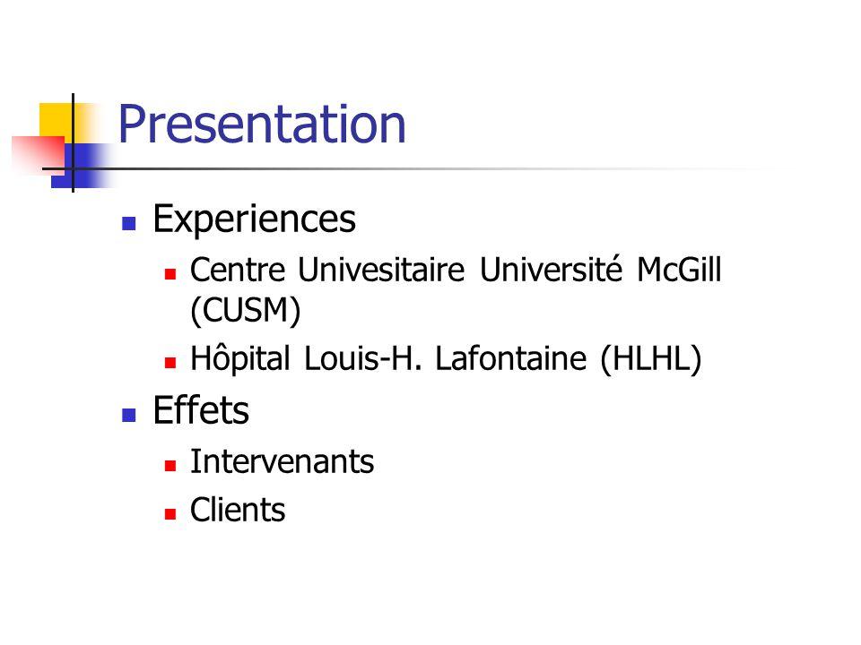 Interventions CUSM : T 0 au T 2 Grande appréciation des thérapies où on trouve de laide, du soutien, de la motivation.