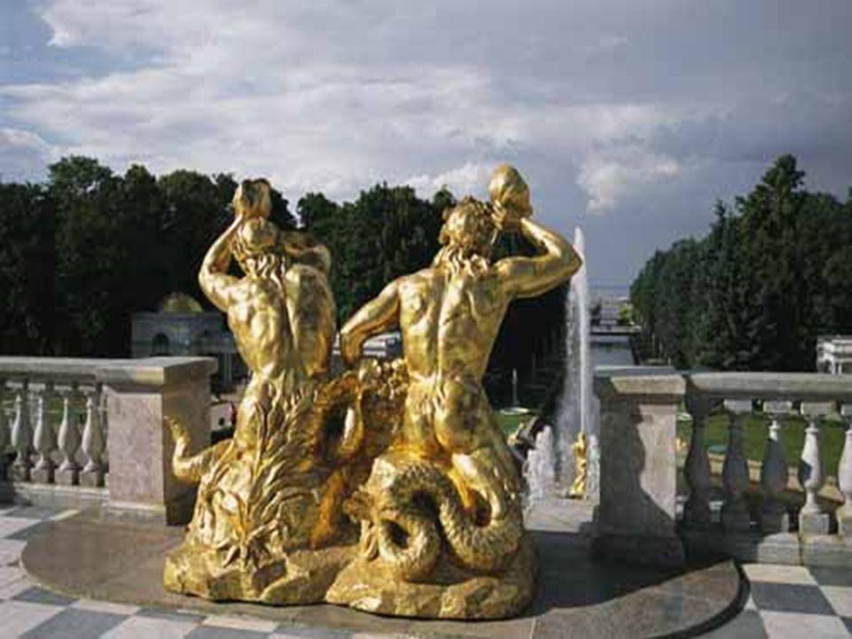 Le symbole le plus pittoresque de la victoire des Russes sur des Turcs est la fontaine ) Sanson avec une statue de héros biblique déchirant la gueule de lion.