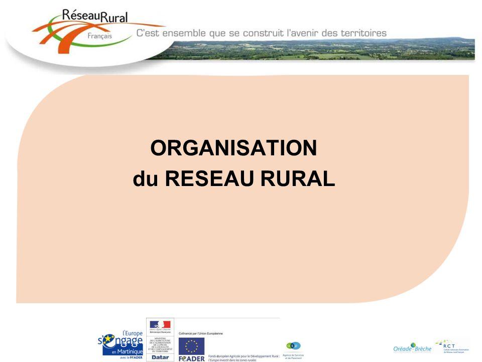 ORGANISATION du RESEAU RURAL