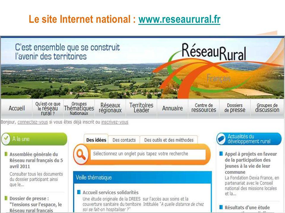 Le site Internet national : www.reseaurural.frwww.reseaurural.fr