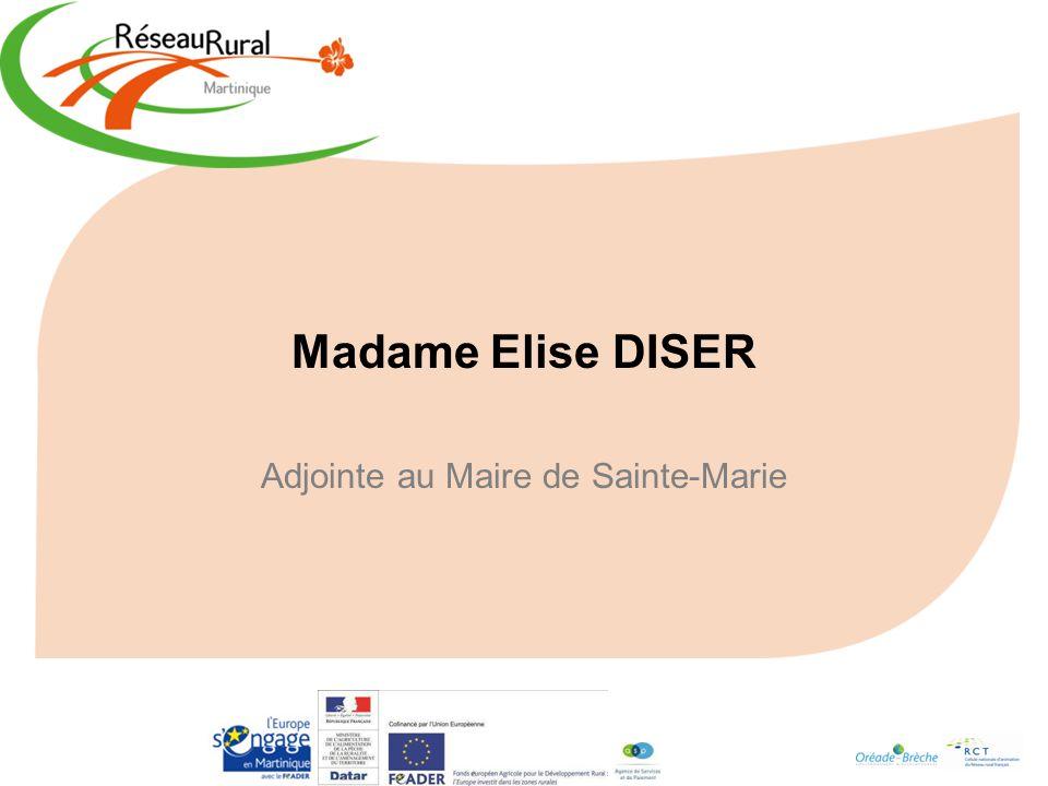 Madame Elise DISER Adjointe au Maire de Sainte-Marie
