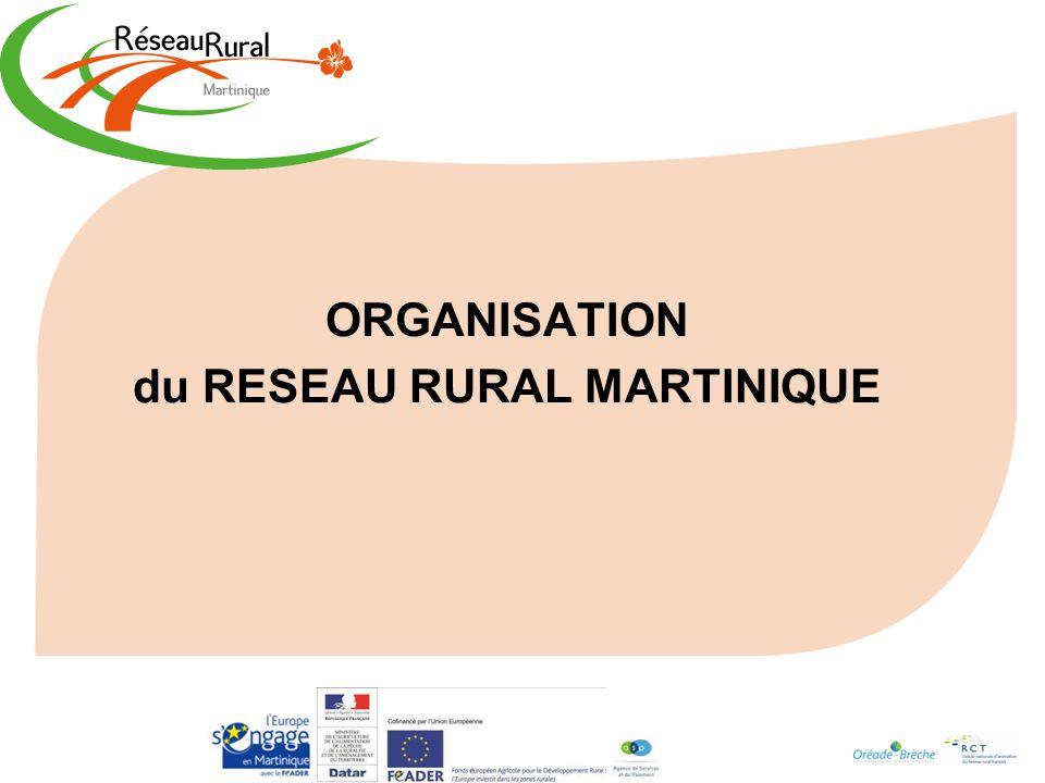 ORGANISATION du RESEAU RURAL MARTINIQUE