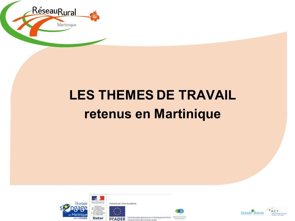 LES THEMES DE TRAVAIL retenus en Martinique