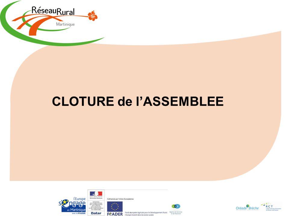 CLOTURE de lASSEMBLEE
