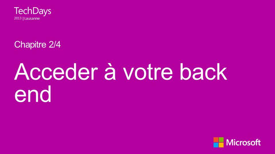 | Lausanne Acceder à votre back end Chapitre 2/4