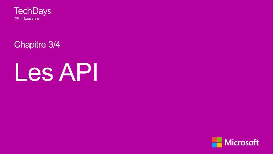 | Lausanne Les API Chapitre 3/4