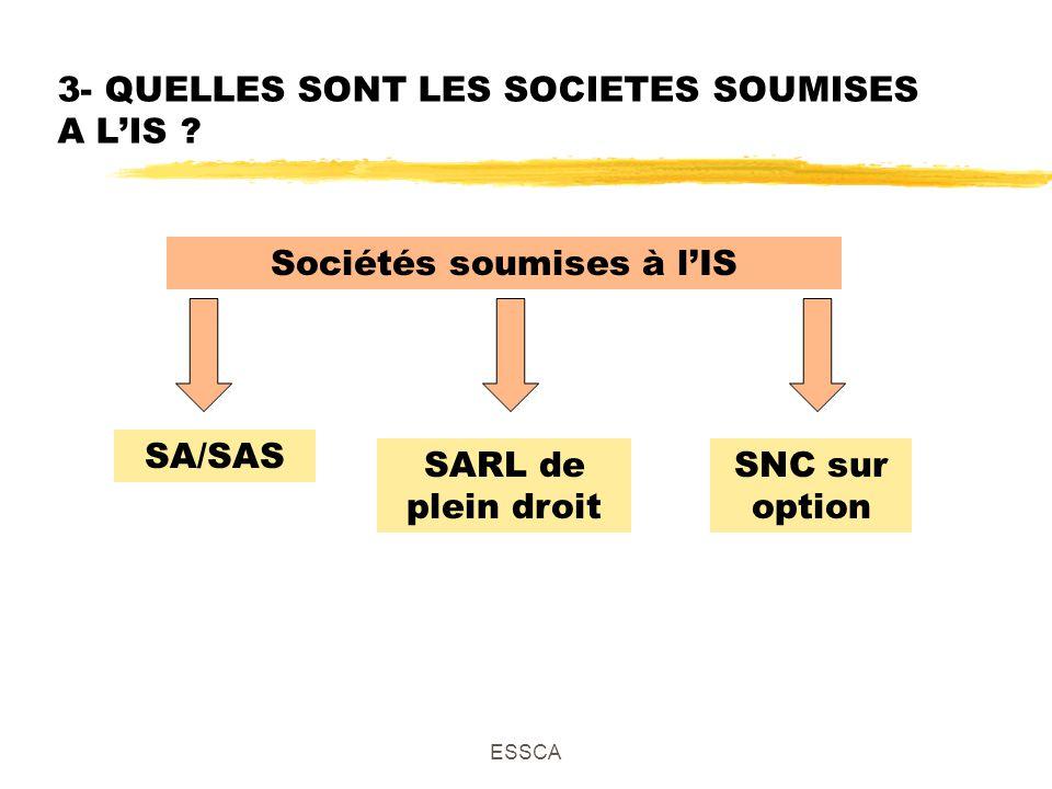 ESSCA 3- QUELLES SONT LES SOCIETES SOUMISES A LIS .