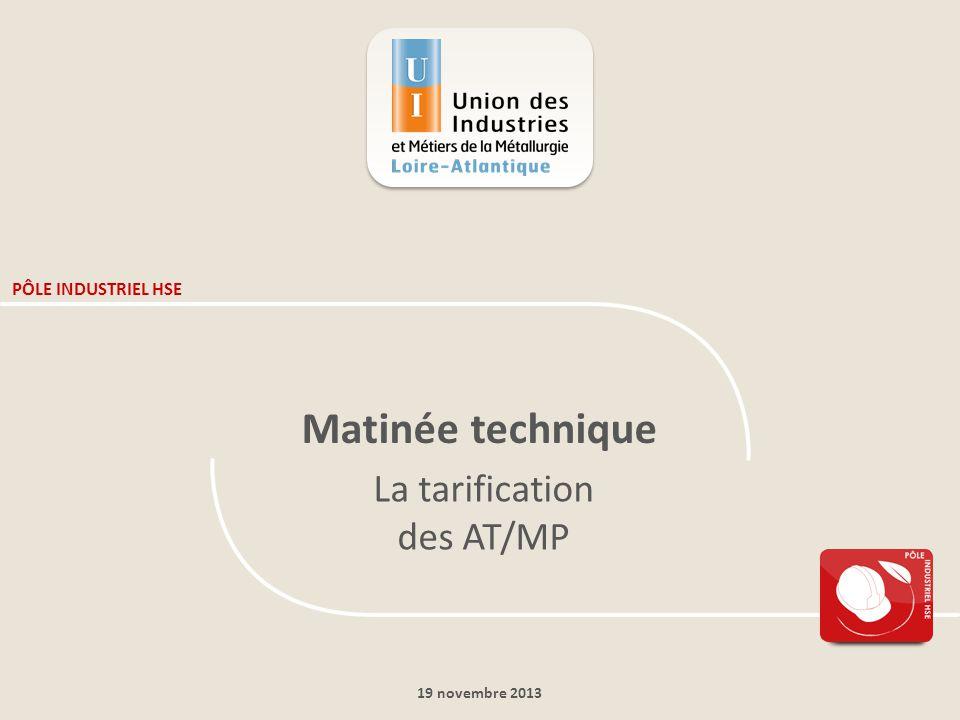 19 novembre 2013 PÔLE INDUSTRIEL HSE Matinée technique La tarification des AT/MP