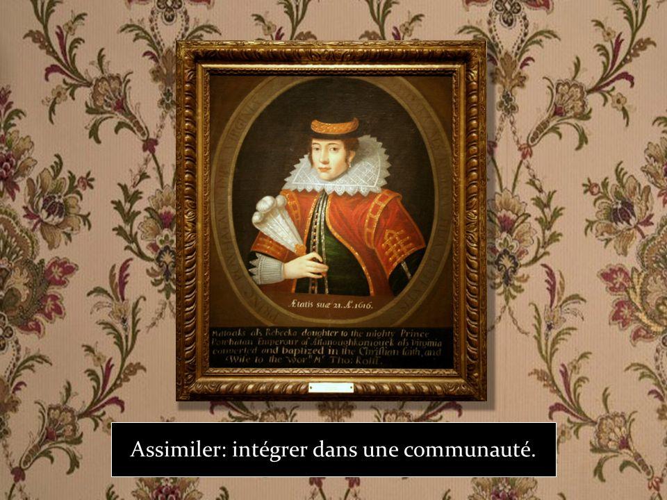 Assimiler: intégrer dans une communauté.