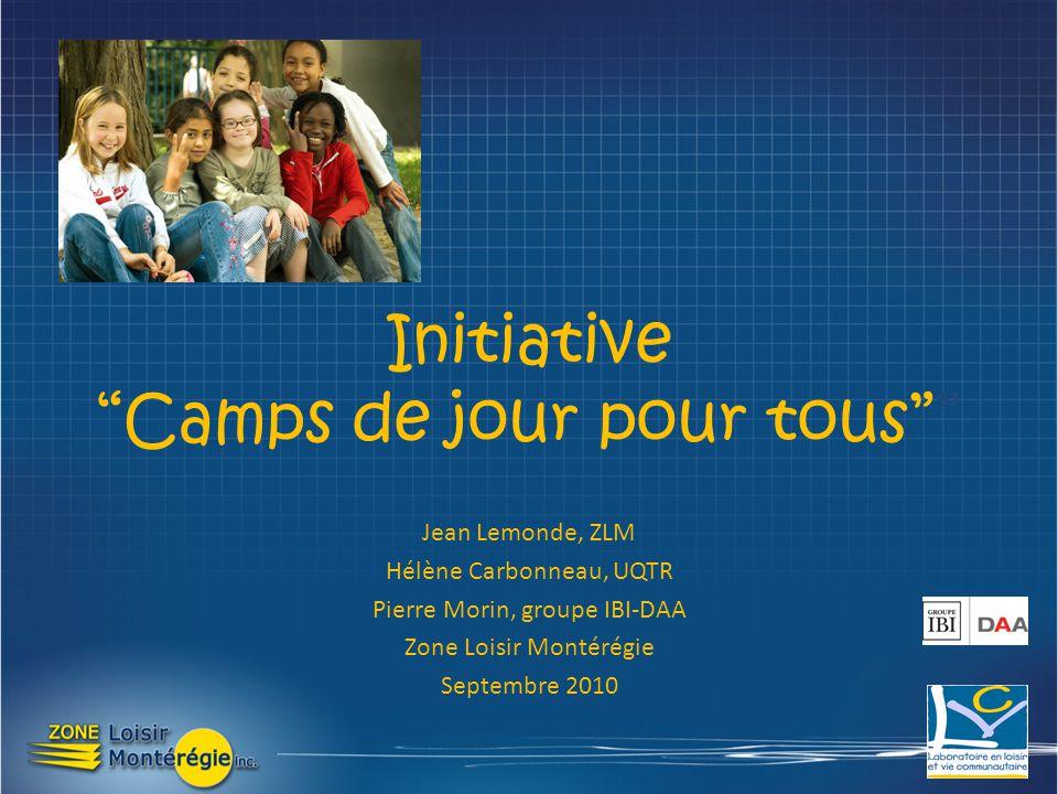 Jean Lemonde, ZLM Hélène Carbonneau, UQTR Pierre Morin, groupe IBI-DAA Zone Loisir Montérégie Septembre 2010