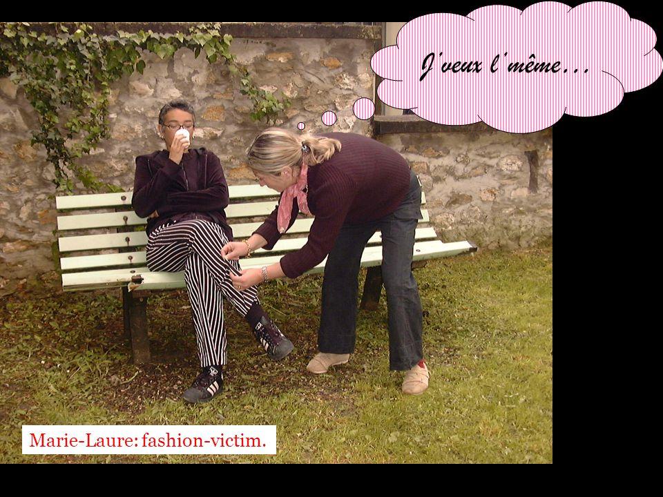 Fashion- victim, elle est obsédée par les fringues de ses collègues et ne se soucie absolument pas du contenu du stââââââââââge .