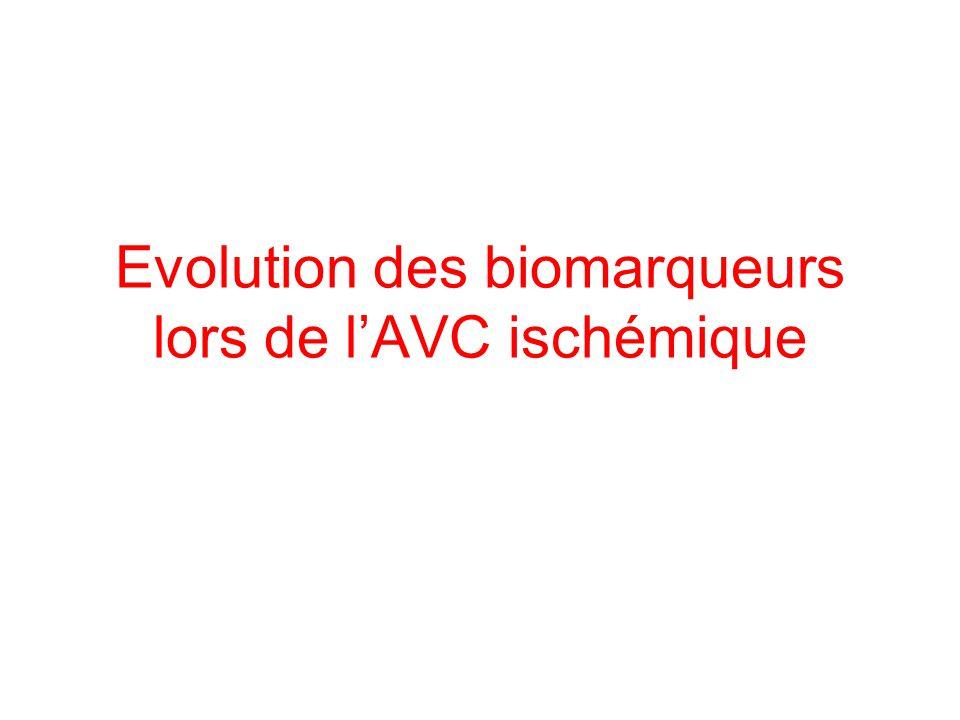 Evolution des biomarqueurs lors de lAVC ischémique