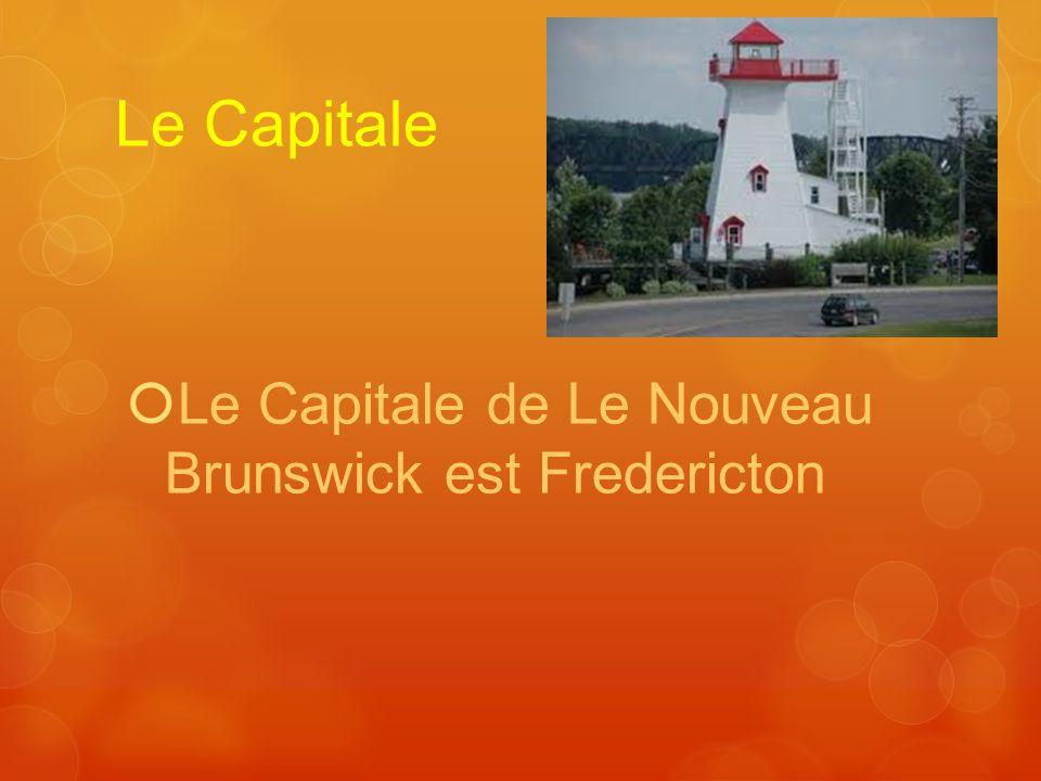 Le Capitale Le Capitale de Le Nouveau Brunswick est Fredericton