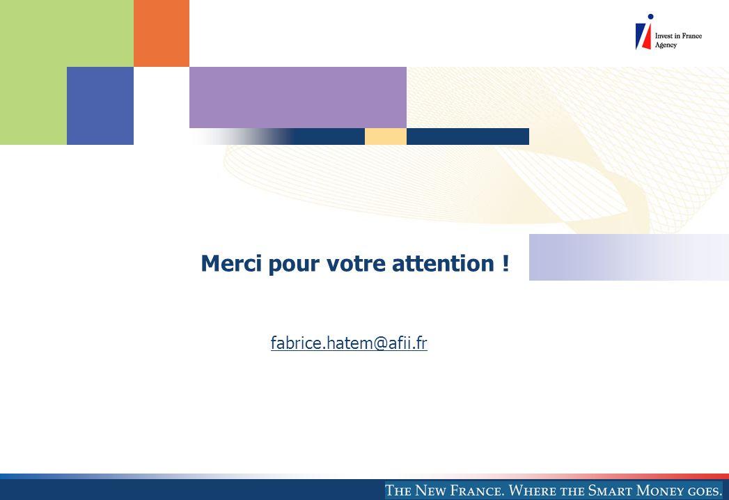 Merci pour votre attention ! fabrice.hatem@afii.fr