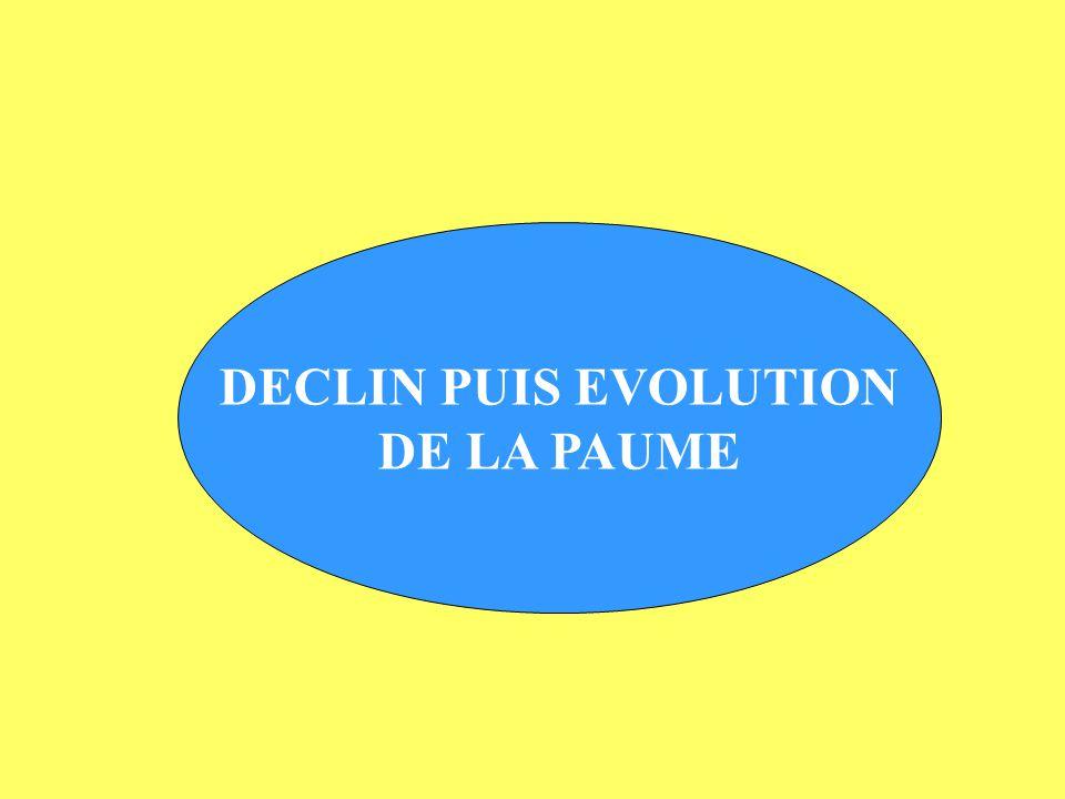 DECLIN PUIS EVOLUTION DE LA PAUME