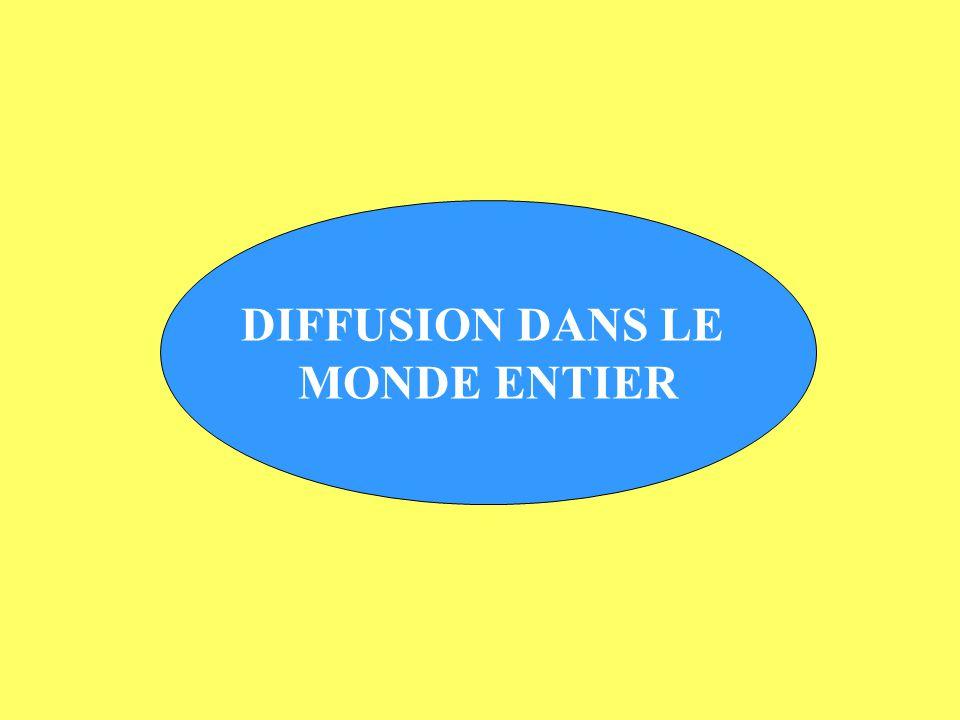 DIFFUSION DANS LE MONDE ENTIER