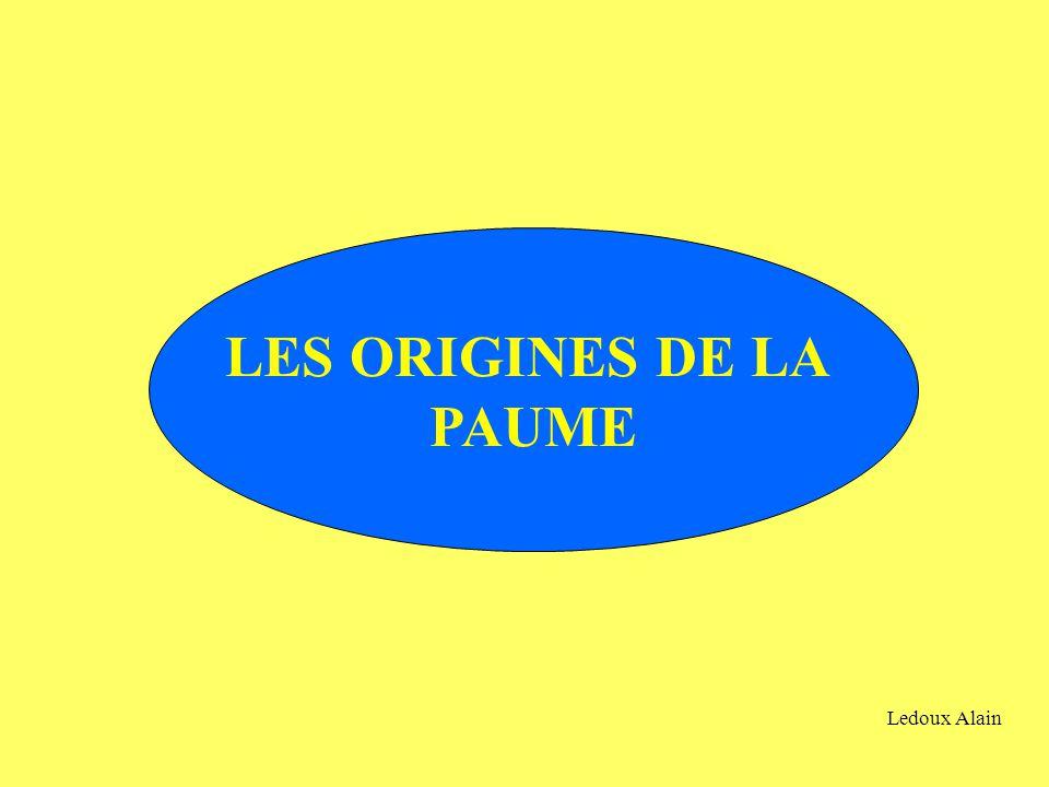 LES ORIGINES DE LA PAUME Ledoux Alain