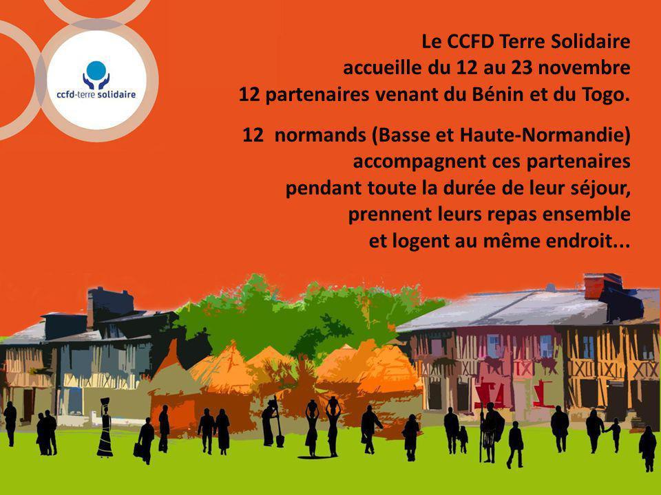 Le CCFD Terre Solidaire accueille du 12 au 23 novembre 12 partenaires venant du Bénin et du Togo.