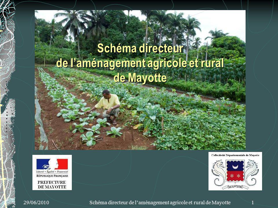 29/06/2010 Schéma directeur de laménagement agricole et rural de Mayotte 1 Schéma directeur de laménagement agricole et rural de Mayotte