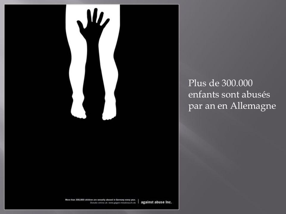 Plus de 300.000 enfants sont abusés par an en Allemagne