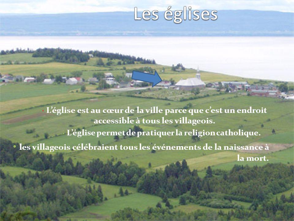Léglise est au cœur de la ville parce que cest un endroit accessible à tous les villageois.