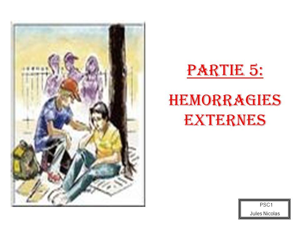 PSC1 Jules Nicolas PARTIE 5: HEMORRAGIES EXTERNES