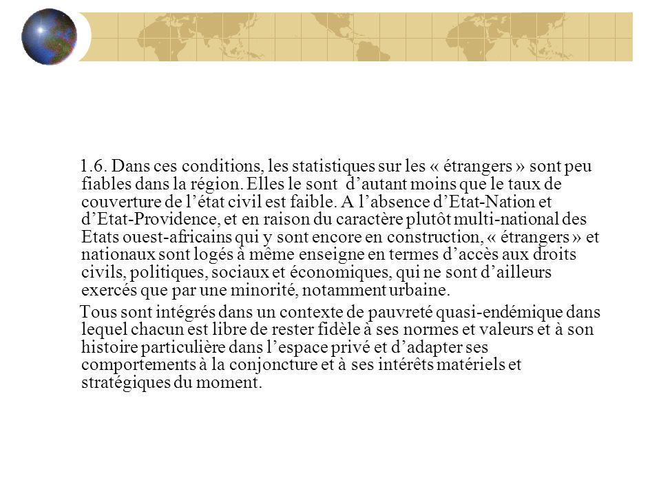 1.6. Dans ces conditions, les statistiques sur les « étrangers » sont peu fiables dans la région.