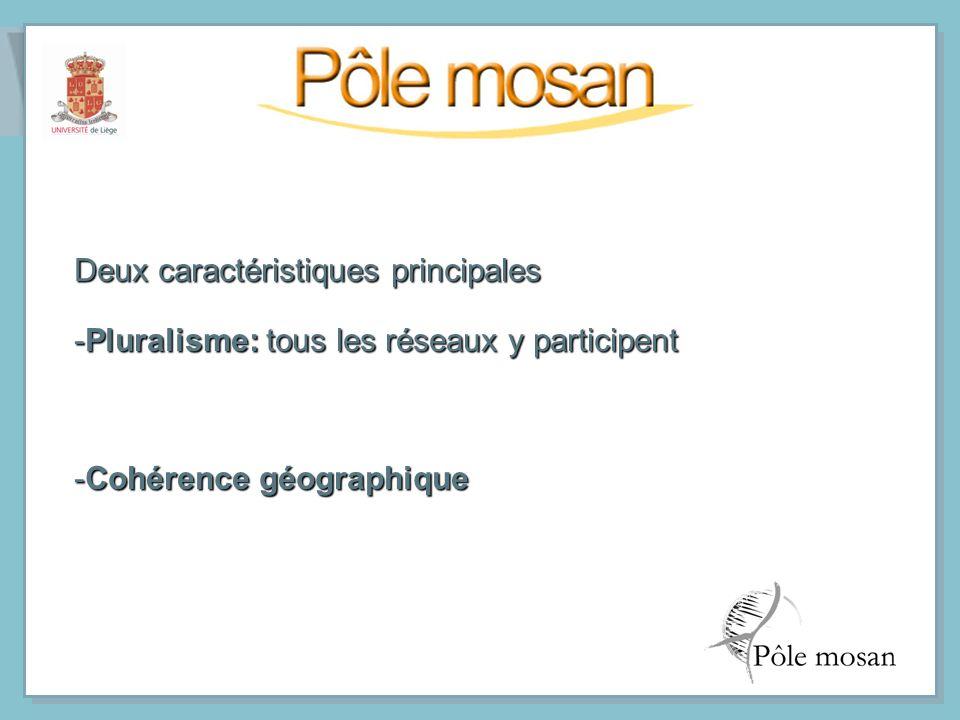 Deux caractéristiques principales -Pluralisme: tous les réseaux y participent -Cohérence géographique