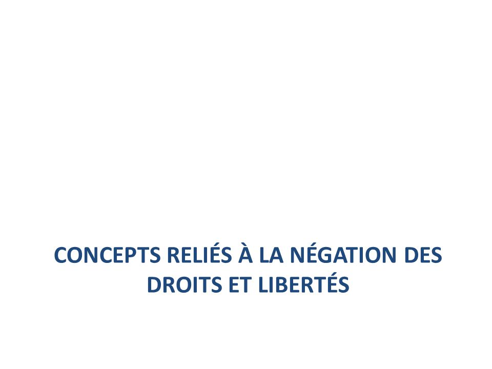 Exemples de droits fondamentaux Droit à la vie Droit à la sécurité Droit à la liberté Droit à lintégrité physique et morale …