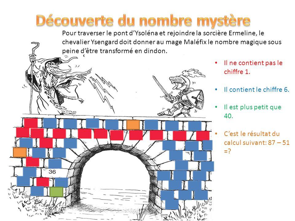 Pour traverser le pont dYsoléna et rejoindre la sorcière Ermeline, le chevalier Ysengard doit donner au mage Maléfix le nombre magique sous peine dêtr